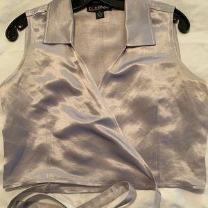 Ellen Tracy Silk Wrap Blouse size 6